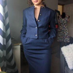 Vintage 1960's Pendleton Dress Suit Skirt Blazer